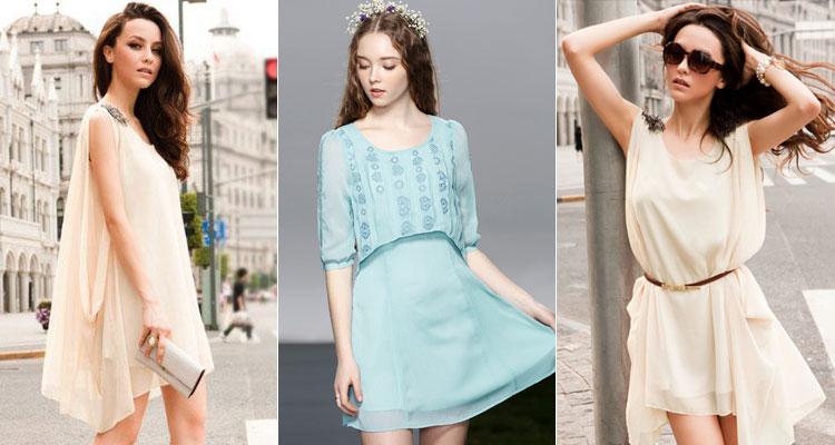 шифоновые платья короткие фото