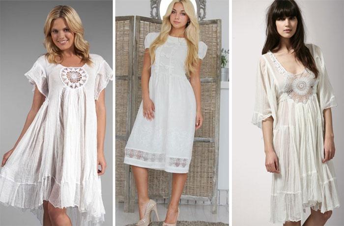 Белое летнее платье своими руками 29