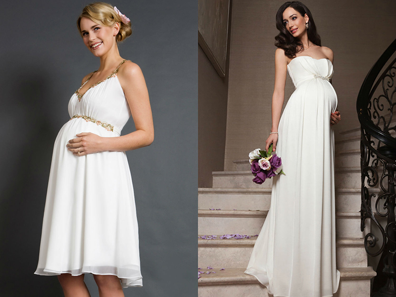 Платье для свадьбы беременным 20