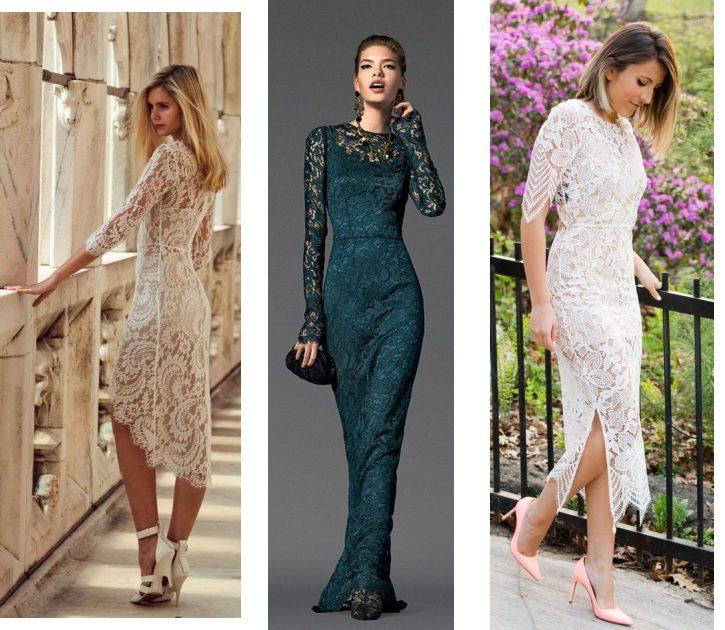 Модные платья из гипюра и кружева: фото известных моделей 35